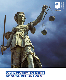 Open Justice report front cover